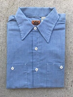 Vintage Deadstock Chambray Work Shirt Big Ben Size Small Workwear