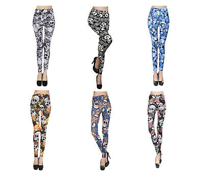 Halloween Skull Legging for Women Sexy Decoration Stretchy One Size Fits All