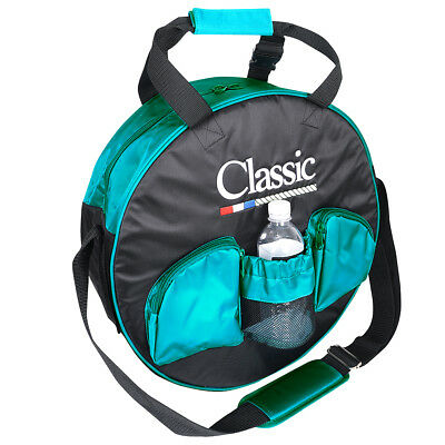 Classic Equine Horse Roping Adjustable Junior Youth Padded Rope Bag Black Teal