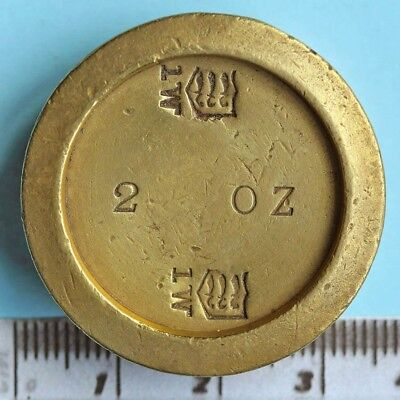 Victorian brass 2oz weight, Middlesex