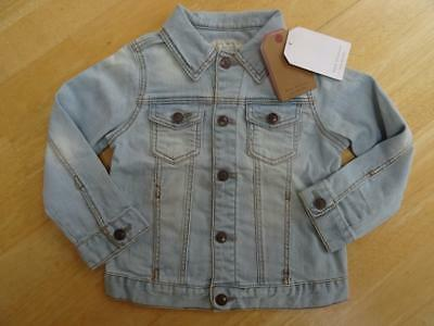 ZARA boys / girls light blue denim jeans jacket coat AGE 6-9 M BNWOT NEW