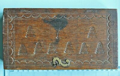 Early 18th century box and coin scale