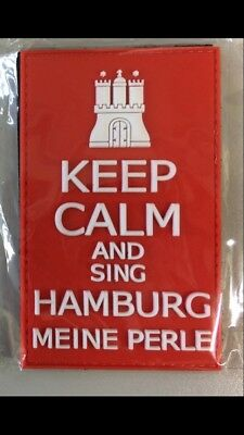 KEEP CALM AND SING HAMBURG PVC 3D Abzeichen Klett Patch ROT