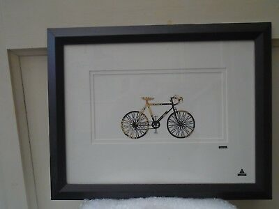 large framed beer can art bicycle by martin allen   unusual quirky wall hanging