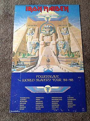RARE Original Iron Maiden PowerSlave World Slavery Tour Poster Dates 84-85