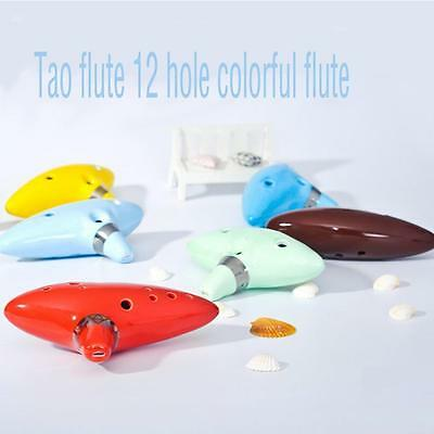 12 Hole Ocarina Ceramic Alto C Legend of Zelda Ocarina Flute Blue Instrument T9