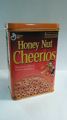 Vintage General Mills Honey Nut Cheerios Collectable Cereal Tin Rare