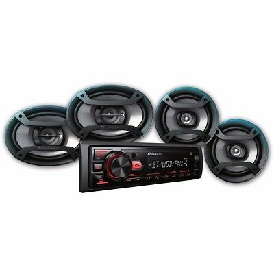 """CD Player Bluetooth Receiver + 6.5"""" & 6""""x9"""" Speakers Package"""