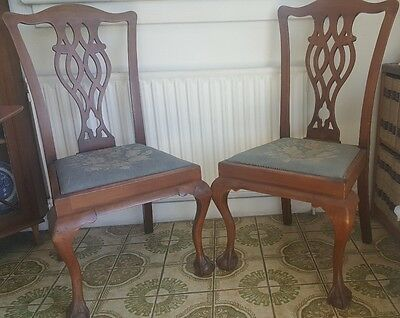 antique dining chairs x 4