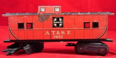 Vintage O Gauge Scale Santa Fe AT & SF 1951 Caboose Car Train Lionel