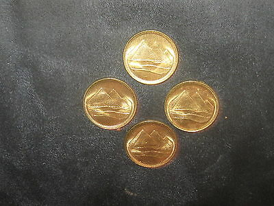 Wholesale Lot 4-18Mm Egyptian Egypt Gold Coin Vintage Pyramid Coins