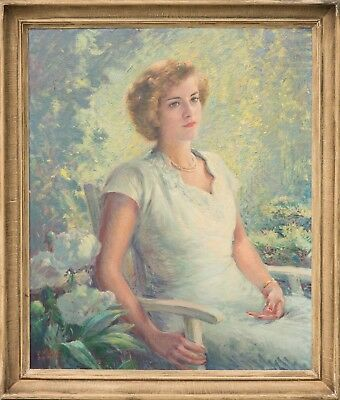 John W. Orth Original Oil Painting, STUNNING Female Portrait, Signed & MINT!