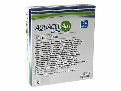 Aquacel Ag+ Extra Enhanced Hydrofiber Dressing 10cm x 10cm (x10)