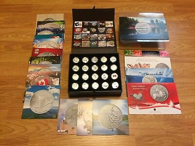 "Complete Royal Canadian Mint Collector's Box -- ""$20 For $20"" Silver Coins"
