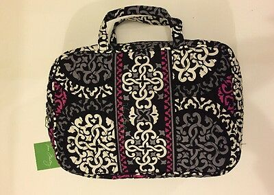 NWT Vera Bradley Travel GRAND  Cosmetic Bag In Canterberry Magenta