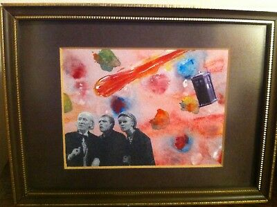 Doctor Who Original Artwork William Hartnell Ben Polly Framed Sci-Fi Picture