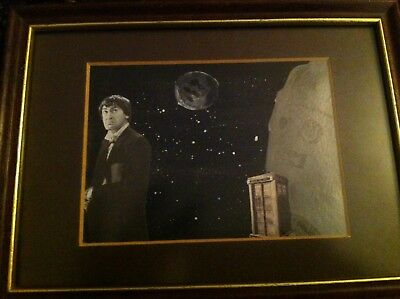 Doctor Who Original Artwork Patrick Troughton Moonbase Cybermen Framed Picture
