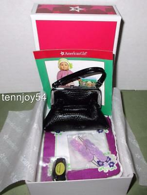 American Girl Ruthie Meet Accessories Purse, Hankie, Watch, Barrettes New in Box