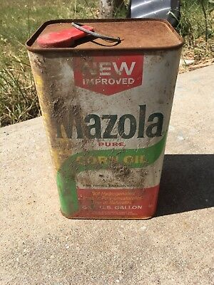 Mazola Pure Corn Oil Best Foods Div Corn Products Co One Gallon Vintage Can