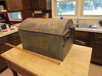 Antique Primitive Happy Home Steam Metal Washing Machine Stove Top