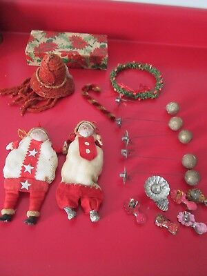 Large Group of Antique  Misc XMAS ITEMS - From  Estate - LAST LOT From ESTATE