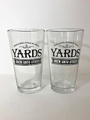 Yards Brewing Company - Brew Unto Others - 16 Ounce Pint Glass - 2 Pack