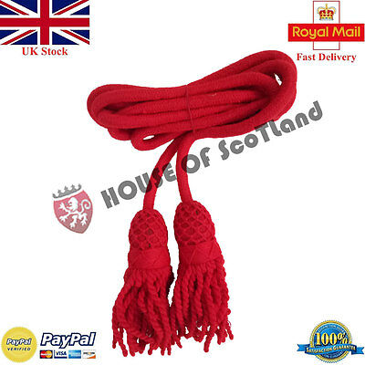 New HS Bugle Wool Cord Red Color/British Army Bugle Wool Cord/Cadet Bugle Cords