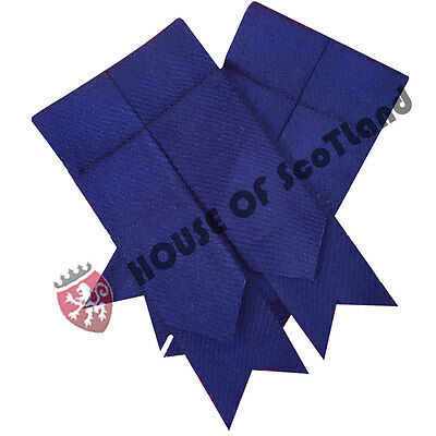 Men's Navy Blue Kilt Flashes/Scottish Kilt Hose Sock Flashes Navy Blue Tartan