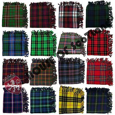 "Scottish Fly Plaid 48"" X 48"" Various Design With Antique Brooch 3""/Pin & Brooch"