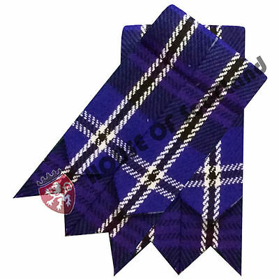 Men's Scottish Highland Kilt Hose Sock Flashes Heritage of Scotland Tartan Wool