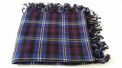 "New Mens Kilt Fly Plaid Heritage of Scotland Tartan/Scottish Fly Plaid 48"" X 48"""