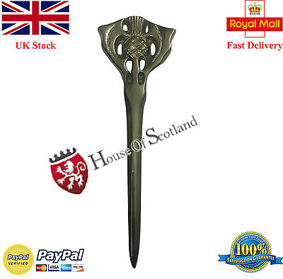 "Scottish Kilt Pin Thistle Antique Finish 4""/Thistle Hilt Kilt Pins/Pin Brooch"