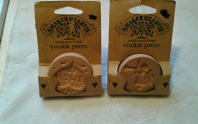 2* Wilton Shaker Hearth Clay -ANGEL + HOME  Cookie PRESS- New