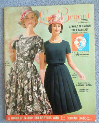 1964 Lane Bryant Womens Clothing Catalog ~ Dress Skirts Underwear ~ Plus Sizes