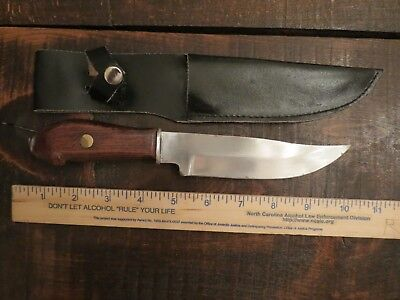 Vintage Hunting Knife / With Leather Sheath/ Puukko Type