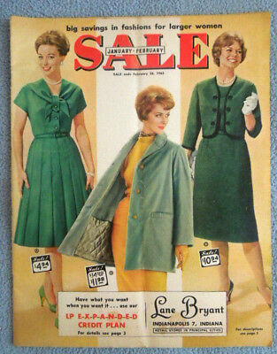 Vintage 1962 Lane Bryant Womens Clothing Catalog ~ Dress Skirts Underwear Shoes