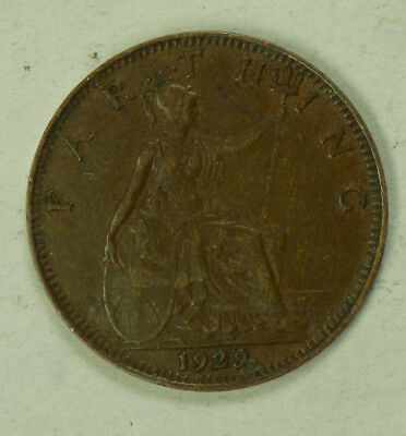 Great Britain 1929 1 Farthing Coin