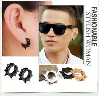 Women Men's Unisex Ear Plugs Magnetic Earrings Non Piercing Clip On Fake Stud