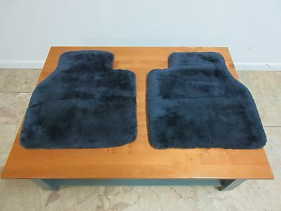 4 Piece Bentley Lambs Wool Floor Mats Mat 4  OEM Nautic Blue FREE SHIPPING