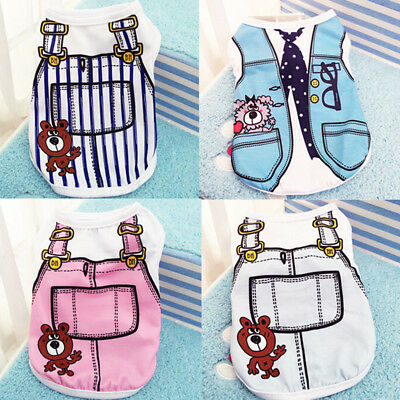 XS-XXL Small Pet Dog Apparel Vest Puppy Cat Coat Clothes T-shirt Summer Vest