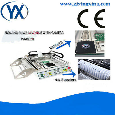 Desktop PCB Pick and Place Machine with Double Vision,TVM802B,0402,0606,0805,SOP