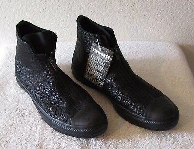 NWT Converse Womens CT All Star Shroud Sting Ray Leather Shoes Black MSRP  120 2db6a8435e5b