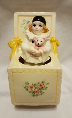 VINTAGE SCHMID JAPAN MUSIC BOX PIERROT BABY LOVE ~ MICHEL OKS ~ 1981 ~ Nice L@@K