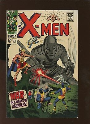 X-Men 34 FN/VF 7.0 * 1 Book Lot * Tyrannus & Mole Man!!!