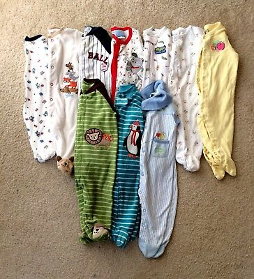 Baby Boy's 6 6/9 Months Footed Sleeper Pajama Clothes Lot **Free Shipping**