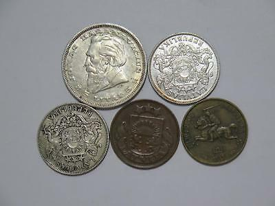 Latvia Lithuania 5 Latai 1 Lats Centu Santimi Mixed Type Old Coin Collection Lot