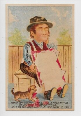 Hold to Light Victorian Trade Card-Dieters Dining Car Coffee ty63