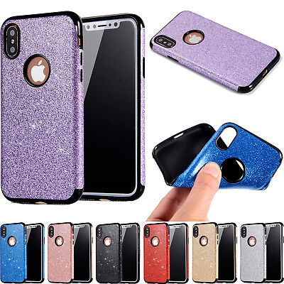 Bling Glitter Soft TPU Rubber Slim Case Back Cover For iPhone 6s 7 8 Plus XS Max