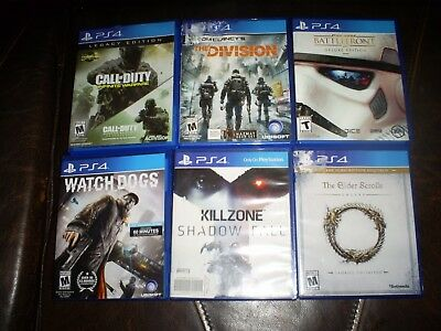 Lot of 6 used PS4 video games