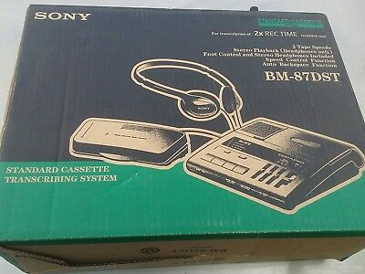 Sony BM-87DST Standard Cassette Transcriber with Pedal and Headset
